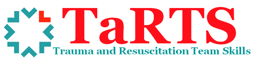 Trauma and resuscitation team skills or T a R T S logo